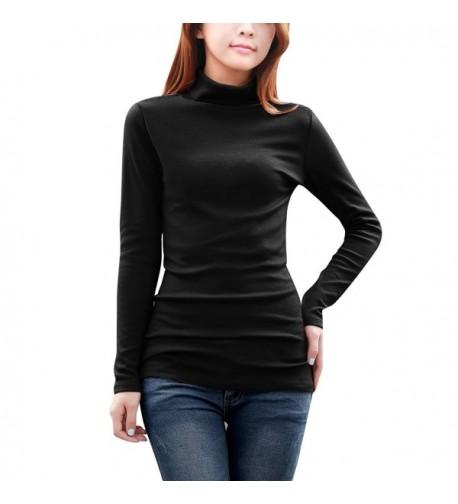 Allegra Womens Sleeves Turtle Black