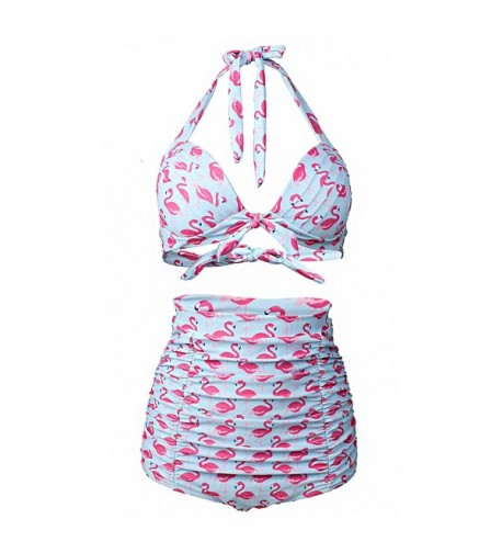 ZORRI Womens Flamingo Vintage Swimsuit