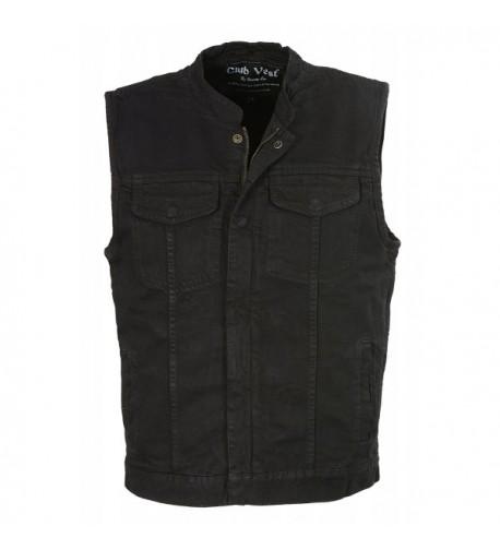 Club Vest CVM3000 BLACK XL CLUBVEST Mens Zipper BLACK XL