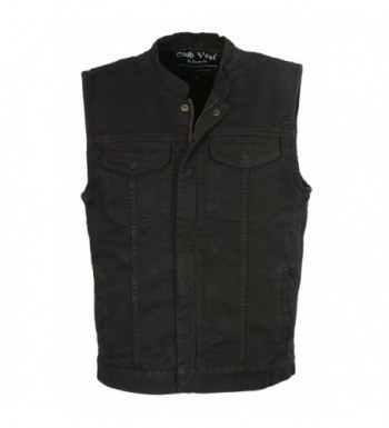 Club Vest CVM3000 BLACK XL CLUBVEST Mens Zipper BLACK XL