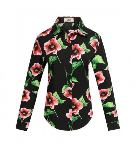 SSLR Womens Poppies Vintage Blouses