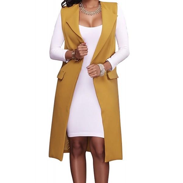 Hestenve Womens Waistcoat Trench Cardigan