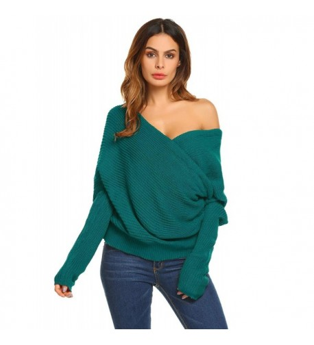 Vansop Sleeve Loose Oversized Pullover Shoulder