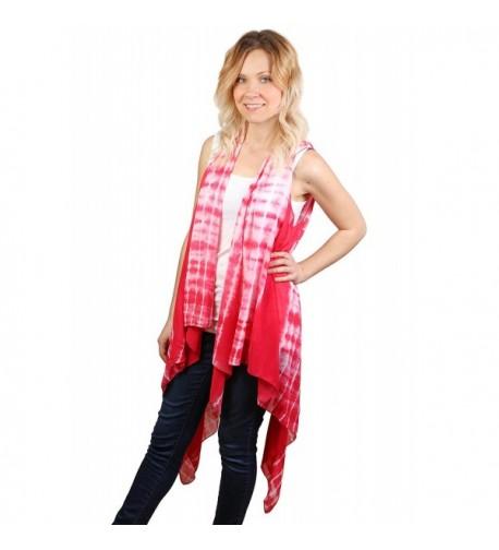 S 753 24 Tie Dye Long Polyester Vest
