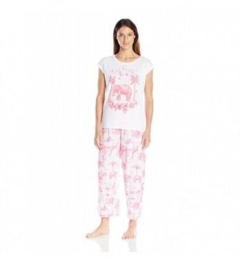 HUE Womens Jungle Pajama Medium