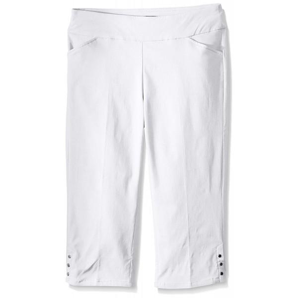 ab90a1066fc Women s Petite Size Super Stretch Pull On Straight Leg Capri Pant ...