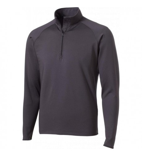 Sport Tek Stretch 2 Zip Pullover Charcoal