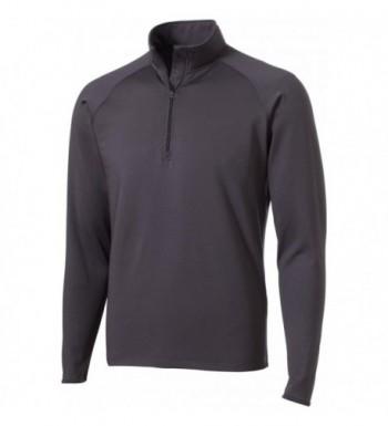 Sport Tek Stretch 2 Zip Pullover Charcoal