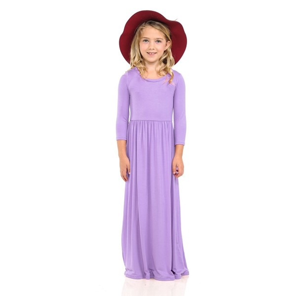 28610e3b0 Honey Vanilla Girls  Fit and Flare Maxi Dress With Easy Removable ...