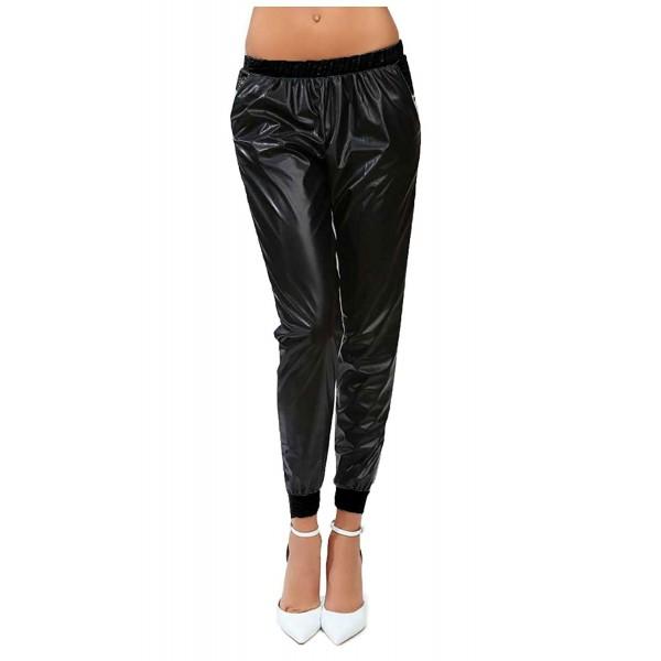Shopglamla Womens Juniors PU Leather Stretch