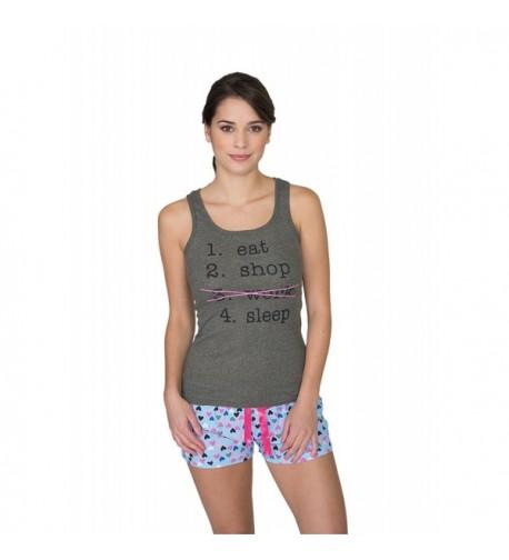 Sleep Co Printed Sleepwear Charcoal