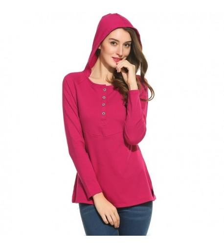 Zeagoo Womens Hoodie Sleeve Pullover