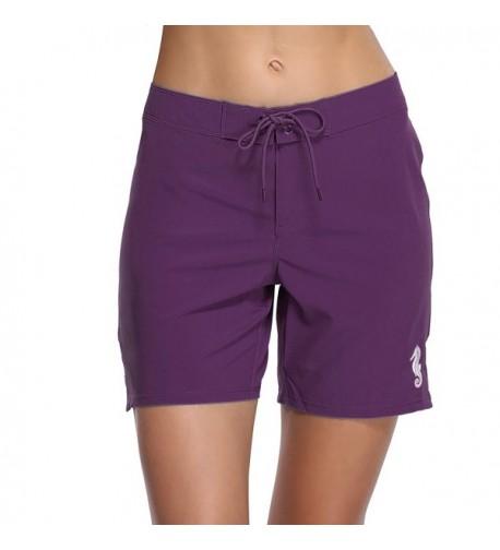 Sociala Womens Shorts Workout Boardshorts