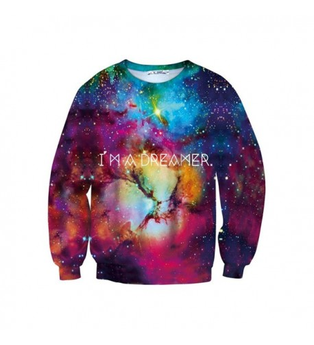 Womens Digital Printed Pullover Sweatshirt