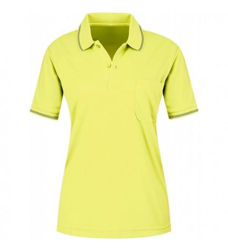 activally Womens Navy Polo Mustard