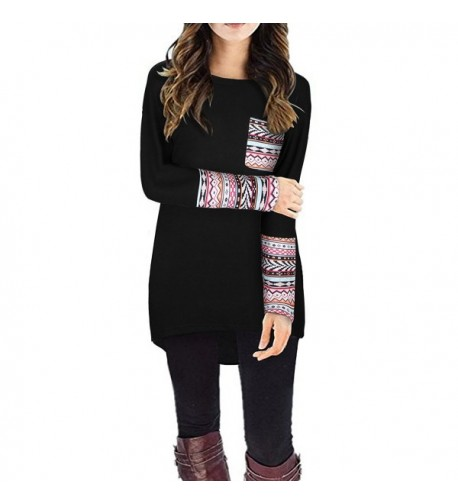 STYLEWORD Womens Sleeve Patchwork T Shirts