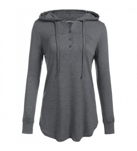 Easther Sweatshirts Pullover Hoodies Drawstring