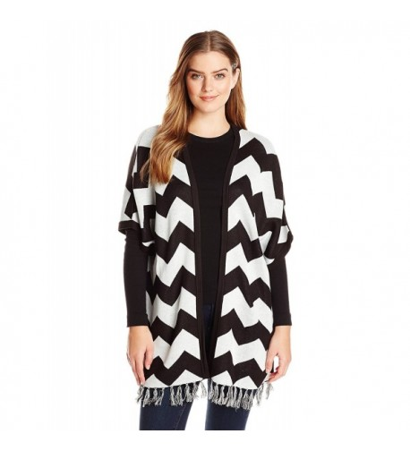 Allison Brittney Womens Chevron Cardigan