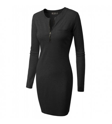 Doublju Fitted Dress available CHARCOAL