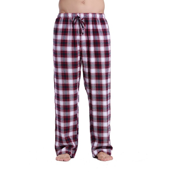 CYZ Cotton Flannel Pajama Pants WhiteRedNavy M