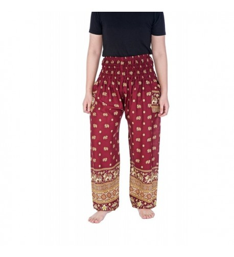 Lannaclothesdesign Womens Elephant Mandala Burgundy