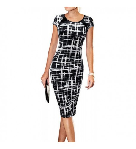 LUNAJANY Womens Striped office Career