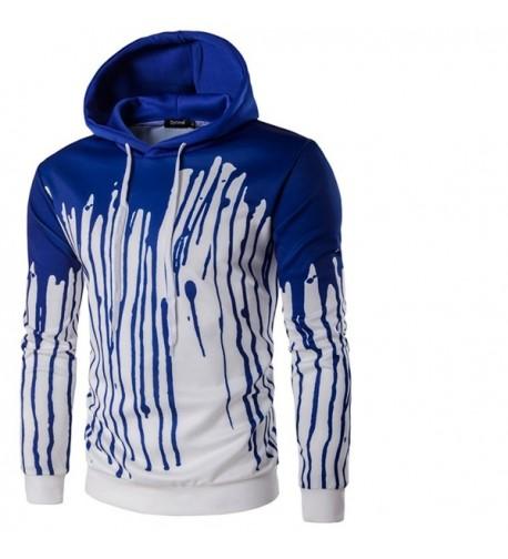 Patchwork Splash ink Digital Pullover Hoodies
