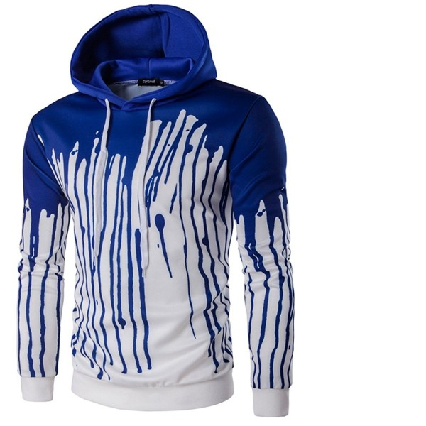Patchwork Splash ink Digital Pullover Hoodies