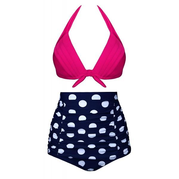 26cbf1487043b High Waisted Bikini Two Piece Swimsuits For Women Push Up Bathing ...