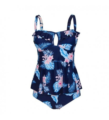 Kxing Waisted Swimsuit Tankini Printed