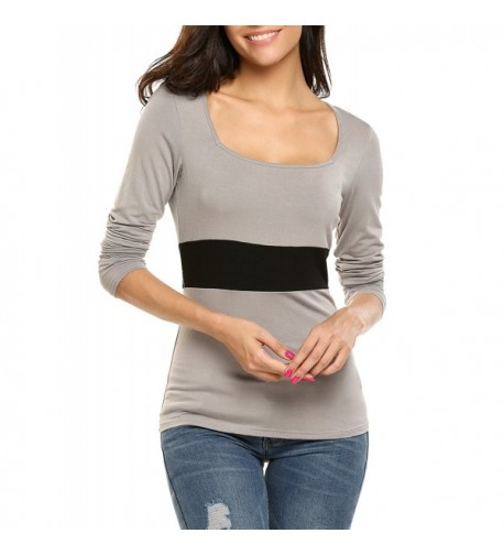 Soteer Womens Stitching Square Blouse