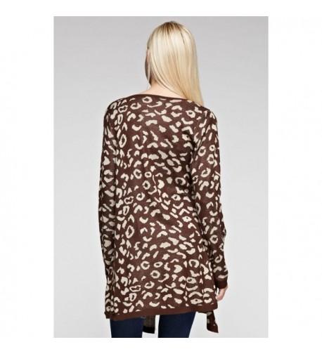 Zoozie Cardigan Sweater Ponchos Leopard