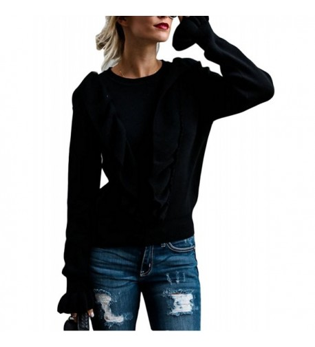 FOXRED Crewneck Ruffle Knitted Sweater