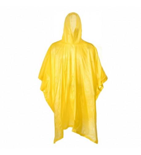 Portable Raincoat Poncho Sleeves Yellow