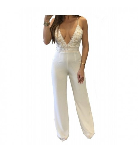 Vilover Womens Sleeveless Waist Jumpsuit