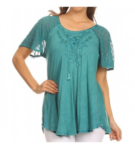 Sakkas 15783 Sequin Embroidered Relaxed