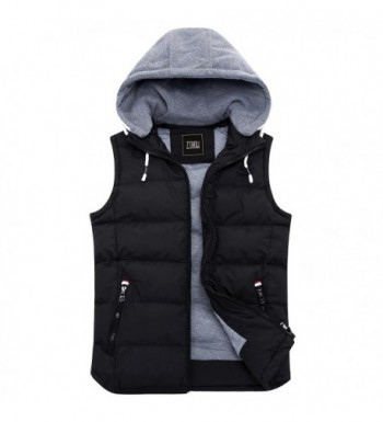 ZSHOW Winter Removable Hooded Cotton Padded