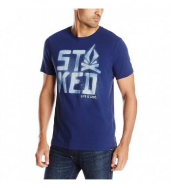 Life Stencil Newbury T Shirt Darkest