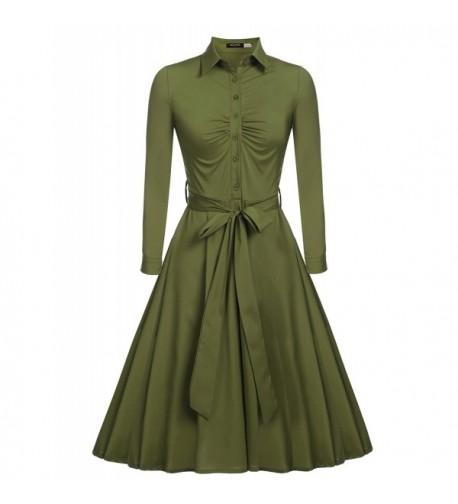 Beyove Womens 1950s Sleeve Vintage