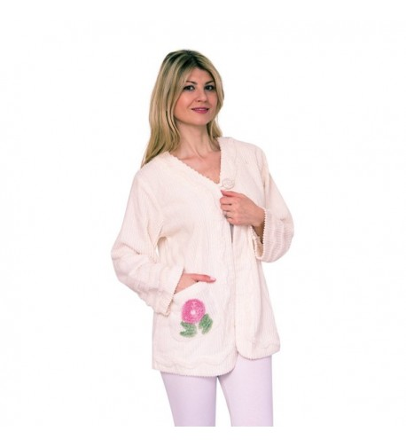 Bath Robes Womens Chenille Embroidered