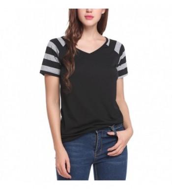 7ff5b691d5501d Zeagoo Womens Striped Sleeve T Shirt; 2018 New Women's Blouses Wholesale ...