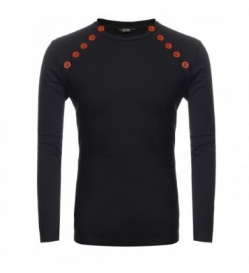 COOFANDY Double Breasted Crewneck Pullover