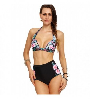 SweatyRocks Bathing Flower Multicolor XX Large