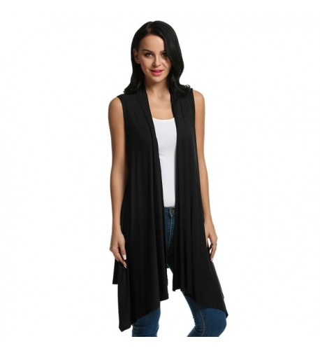 Meaneor Sleeveless Asymetric Cardigan Sweater