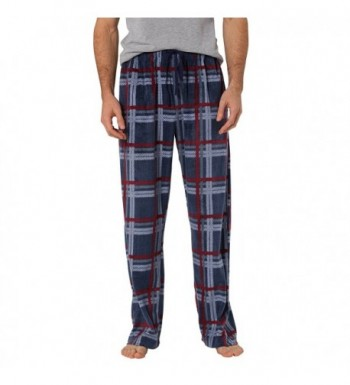 CYZ Mens Fleece Pajama Pant RedWhitePlaid L