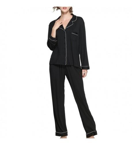 iooho Womens Button Up Sleepwear Loungewear