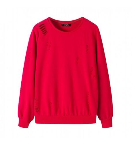 Yimeili Womens Pullover Pockets Sweatshirt