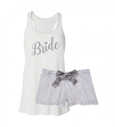 Classy Bride Pajama Set Silver