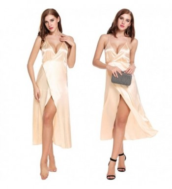 Ekouaer Sleepshirt Lingerie Dress Champagne