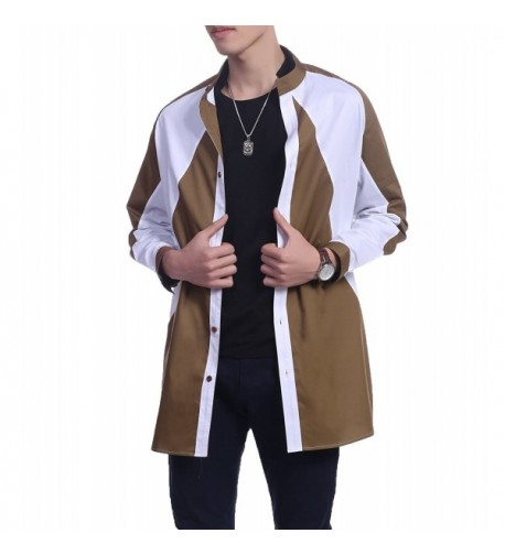 COOFANDY Sleeve Stand Collar Jacket